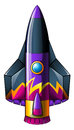 A colorful rocket illustration of on white background Royalty Free Stock Image
