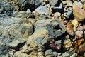 Colorful rocks, landscape. Stone, rocks background Royalty Free Stock Photo