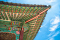 Colorful Roof Details of Changdeokgung Palace Royalty Free Stock Photo