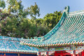 Colorful roof of the Koxinga Shrine in Tainan Royalty Free Stock Photo