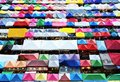 Colorful roof of local market Royalty Free Stock Photo