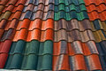 Colorful roof tiles II Stock Image