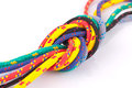 Colorful rope knot Stock Photo