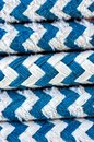 Colorful rope on sailing boat Royalty Free Stock Photo