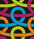 Colorful ropes seamless pattern vector illustration Royalty Free Stock Image