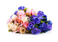 Colorful Rose Bouquet Isolated...