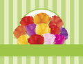 Colorful Roses Greeting Card Illustration Royalty Free Stock Image