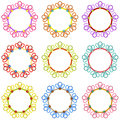 Colorful round frames scalable vectorial image representing a isolated on white Stock Photography