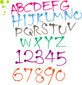 Colorful Round pen font Stock Photography
