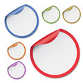 Colorful round stickers on the white background Royalty Free Stock Photo