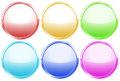 Colorful round web buttons illustration of the on a white background Royalty Free Stock Image