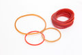 Colorful rubber rings for stationery Royalty Free Stock Photography