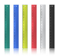 Colorful rulers Royalty Free Stock Photo