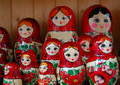 Colorful Russian Dolls - Matroshka Royalty Free Stock Photos