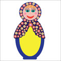 Colorful russian folk doll matryoshka to design di dishes covers and other purposes isolated cute illustration Stock Photography