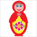 Colorful russian folk doll matryoshka to design di dishes covers and other purposes isolated cute illustration Royalty Free Stock Photos
