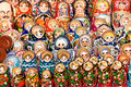 Colorful Russian nesting dolls Royalty Free Stock Photography