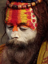 Colorful Sadhu in Shivaratri Festival Stock Image