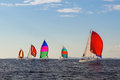 colorful sails under a blue sky Royalty Free Stock Photo
