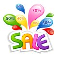 Colorful Sale Royalty Free Stock Photos