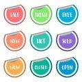Colorful sale badge peeling sticker label set Royalty Free Stock Photo