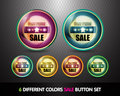 Colorful Sale 'Best Price' Button Set Stock Photos
