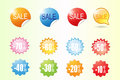 Colorful sale label vector and backround Stock Photo