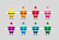 Colorful Santas Royalty Free Stock Image