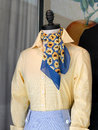 Colorful scarf on a mannequin Royalty Free Stock Photography