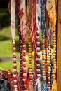 Colorful scarfs with small marbles Royalty Free Stock Photo