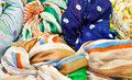 The colorful scarves Royalty Free Stock Photos