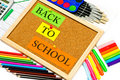 Colorful school accessories.back to school Stock Photos