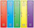 Colorful school lockers Royalty Free Stock Photos
