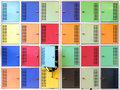 Colorful school lockers Royalty Free Stock Photo