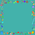 Colorful School Stuff Making a Frame Royalty Free Stock Photo