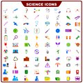 Colorful science icon vector illustration of complete set of Royalty Free Stock Photo