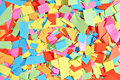 Colorful scraps background consisting of geometrical of paper Royalty Free Stock Image