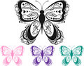 Colorful Scroll Butterfly Stock Photography