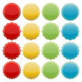 Colorful seals set of blank starburst stickers for website Stock Images
