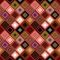 Colorful seamless abstract diagonal square tile mosaic pattern background Royalty Free Stock Photo