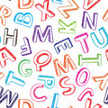 Colorful seamless alphabet background Royalty Free Stock Photography