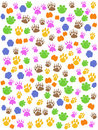 Colorful seamless animals footprint Stock Image