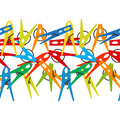 Colorful seamless background Clothes Peg. Vector.