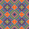 Colorful seamless ethnic pattern background in red blue red yellow colors vector file editable scalable and easy color change can Royalty Free Stock Image