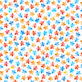 Colorful seamless floral pattern spring on white background Royalty Free Stock Photo