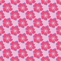 Colorful seamless flower background.