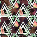 Colorful seamless fruit watercolor pattern.
