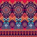 Colorful seamless Paisley pattern. Decorative indian ornament. Ornamental wallpaper