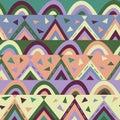 Paper-cut geometric texture for kids