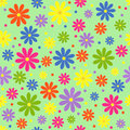 Colorful seamless, pattern  of flower